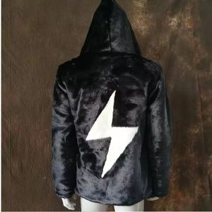 Jackets & Blazers - Burning Man Fur Jacket Coat Dirtybird Festival